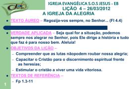 26/03/2012 a igreja da alegria