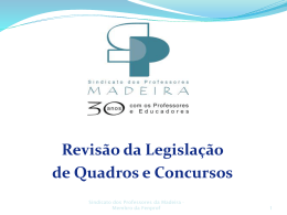 Concurso Interno - Sindicato dos Professores da Madeira