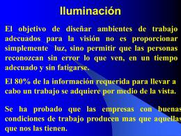 ILUMINACIÓN - Higiene Ocupacional