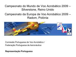 Apresentação Selecção 2009 - Federação Portuguesa de Aeronáutica