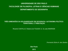 Solidariedade geográfica - Ricardo Mendes Antas Jr.