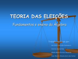 TEORIA DAS ELEICOES