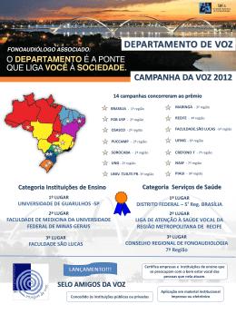 DEPARTAMENTO DE VOZ CAMPANHA DA VOZ 2012 3º LUGAR