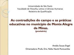 Seção 3: Monte Alegre de Minas e o lugar das escolas