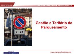GESTÃO E TARIFÁRIO DE PARQUEAMENTO