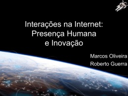 Interações na Internet final
