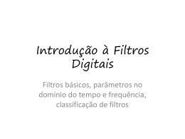 Introdução à Filtros Digitais