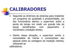 calibradores e verificadores