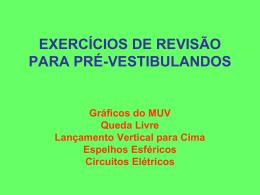 EXERCÍCIOS DE REVISÃO PARA PRÉ