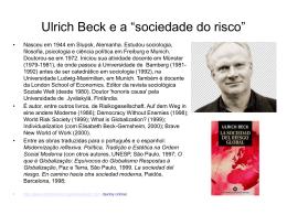 Ulrich Beck: A sociedade de risco