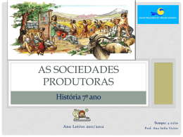 As sociedades produtoras