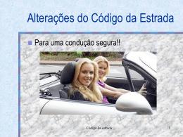 Novo código da estrada