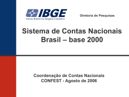 Sistema de Contas nacionais Brasil base 2000