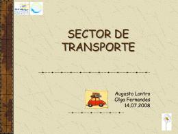 SECTOR DE TRANSPORTE