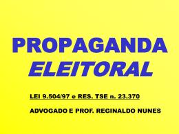 PROPAGANDA ELEITORAL PERMITIDO – PROIBIDO - PSDB