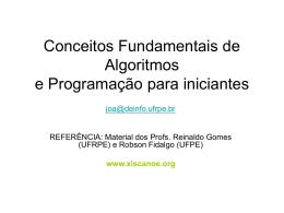 Conceitos Fundamentais de Algoritmos e Programação para
