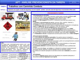 APT 11 - Trabalhos com Caminhão Comboio