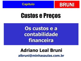 2. Os custos e a contabilidade financeira.