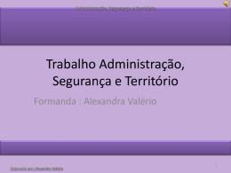 Administração, Segurança e Território - pradigital