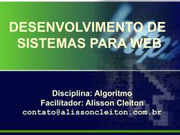 Desenvolvimento de Sistema para WEB