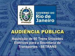 Audiência Pública - Governo do Estado do Rio de Janeiro