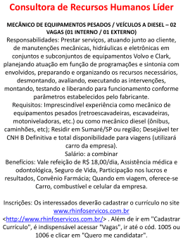 Consultora de Recursos Humanos Líder MECÂNICO DE