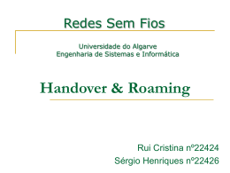 Handover & Roaming - Universidade do Algarve