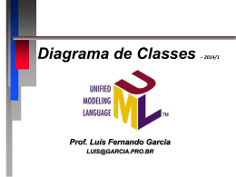 Diagrama de Classes - Prof. Dr. Luis Fernando Garcia