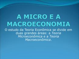 A MICRO E A MACROECONOMIA