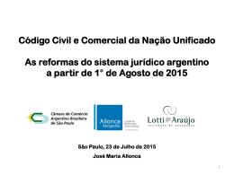 """""""Encontro Temático"""" O Novo Código Civil e Comercial Argentino"""