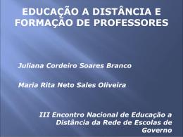 o trabalho docente e a formação do professor em serviço e a distância