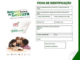 actividades realizadas - Plano Nacional de Leitura