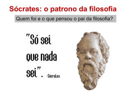 Sócrates: o patrono da filosofia