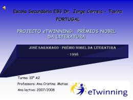JOSÉ SARAMAGO - Agrupamento de Escolas Dr. Jorge Augusto