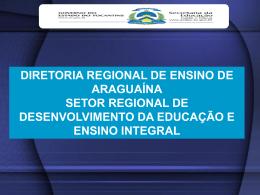 Slides - Avaliação - Diretoria Regional de Ensino de Araguaína