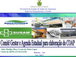 Comitê Gestor e Agenda Estadual para elaboração do