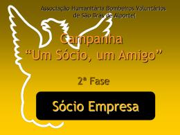 Sócio Empresa - associação humanitária bombeiros voluntários são
