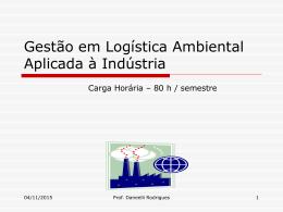 Gestão de Materiais e Logística