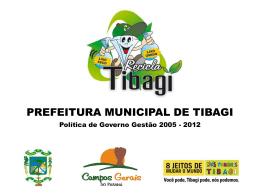 RECICLA TIBAGI - Programa Cidades Sustentáveis