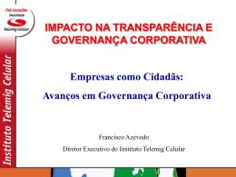 Avanços em Governança Corporativa