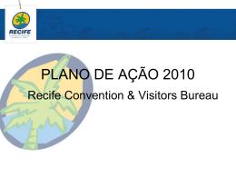 Captação de Eventos - Recife Convention & Visitors Bureau