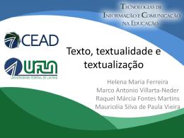 Texto, textualidade e textualização