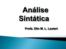 Análise Sintática - Escola Rainha do Brasil