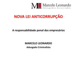 Lei Anticorrupção - Responsabilidade penal de - Crea