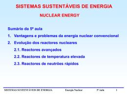 5ª Aula - Centro de Fusão Nuclear