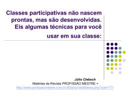 Técnicas para participação de alunos - Dij