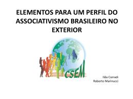 elementos para um perfil do associativismo brasileiro no