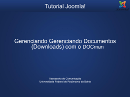 Tutorial Joomla - Gerenciando Documentos Downloads com DOCman