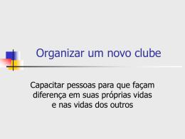 Carta Constitutiva de Novo Clube