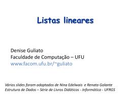 Listas lineares circ..